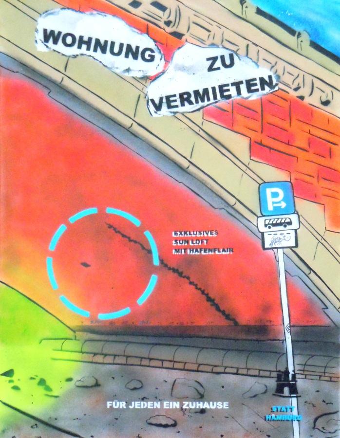 """Wohnung zu vermieten 3"" 80 x 100cm ""Rent a flat 3"""