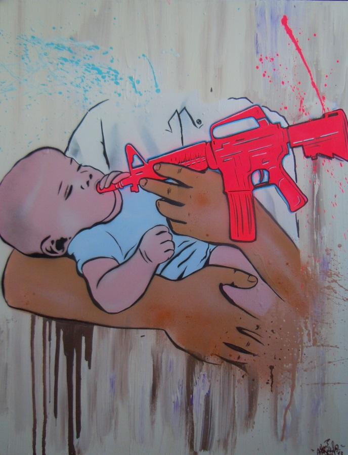 """""""Liebe in Zeiten des Krieges 1"""" 70 x 90 cm """"love in times of war 1"""""""