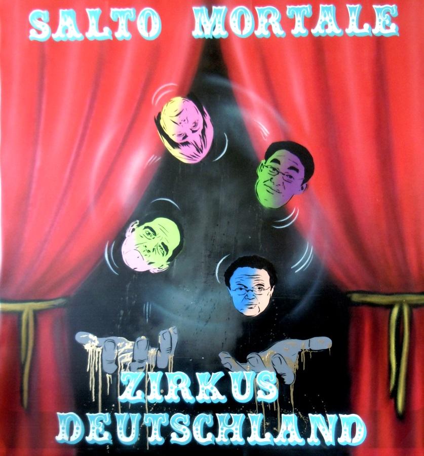 """""""Zirkus Deutschland"""" 120 x 120 cm """"Circus Germany"""""""