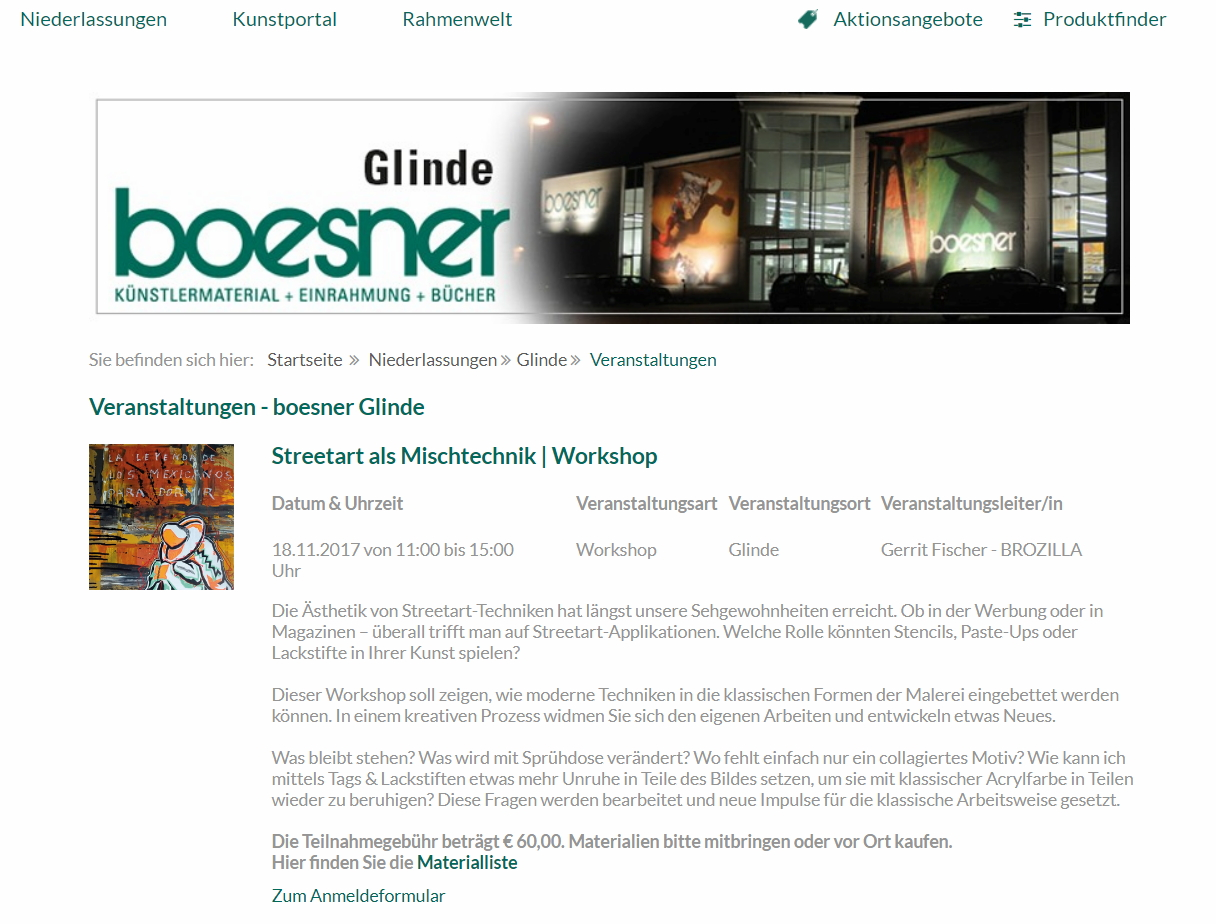 Boesnerankündigung Workshop